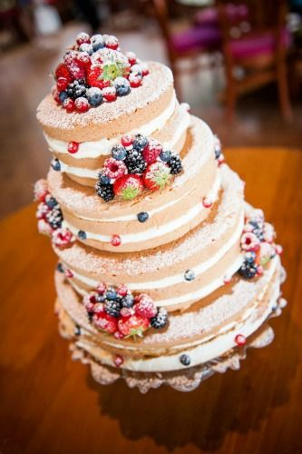 Berry and Naked Cake looks tasty