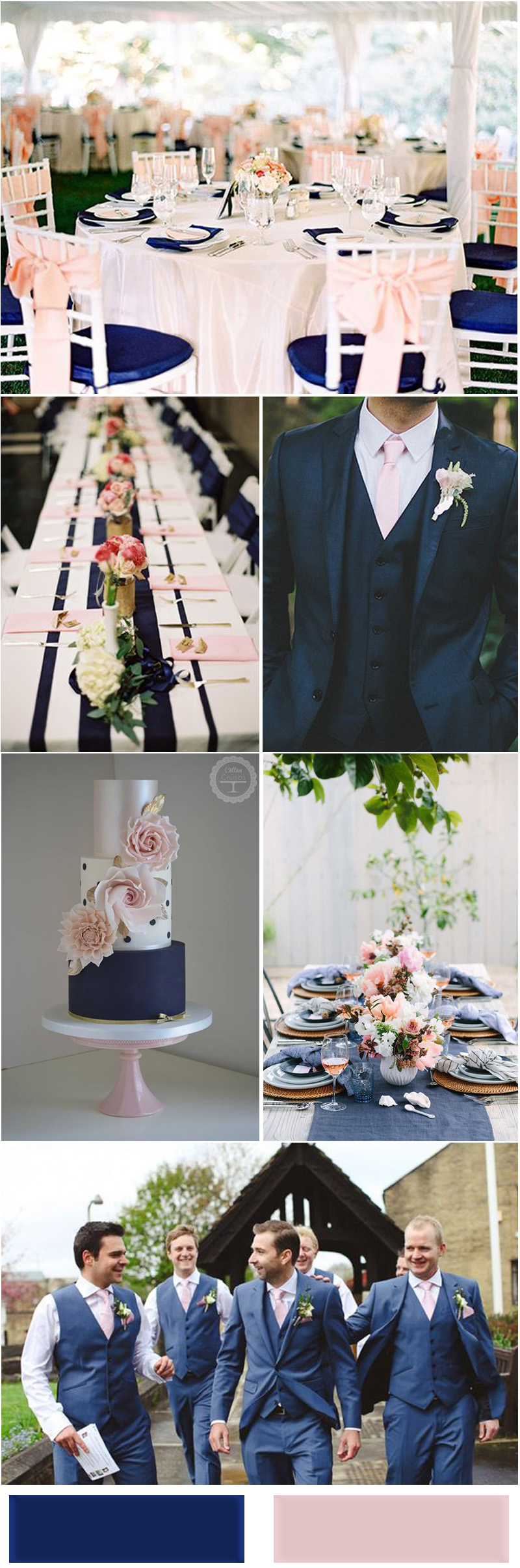 Blush Pink and Navy Blue Wedding Ideas