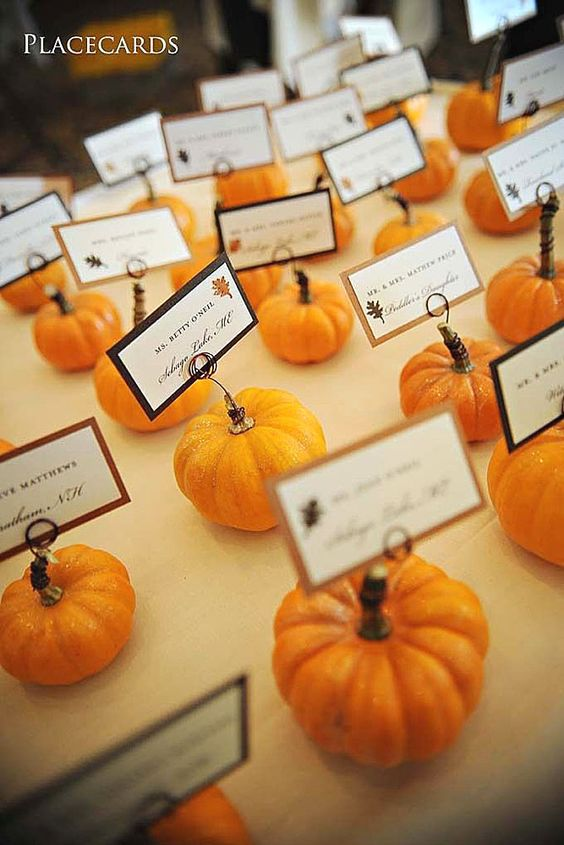 Fall Pumpkin Wedding Card Holder ideas