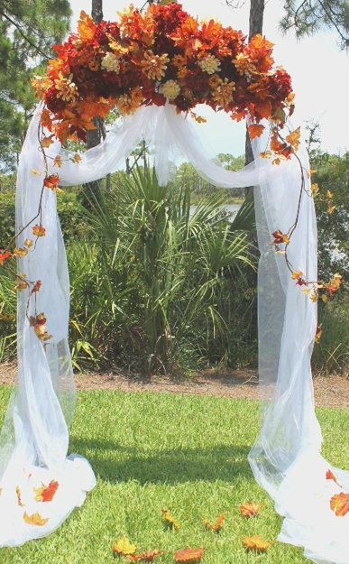 Fall Wedding Arch Ideas for Rustic Outdoor Wedding