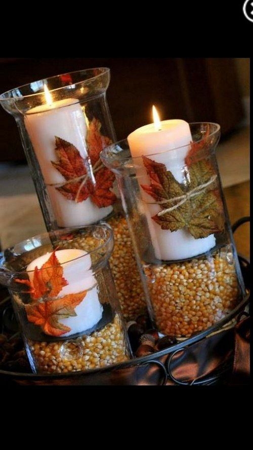 Fall leaves wedding decor idea