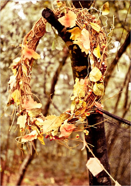 Wedding Fall Wreath Decor Ideas