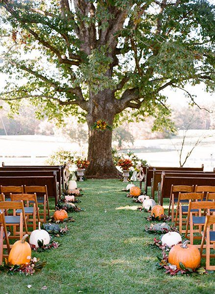 Love an Outdoor Fall Wedding