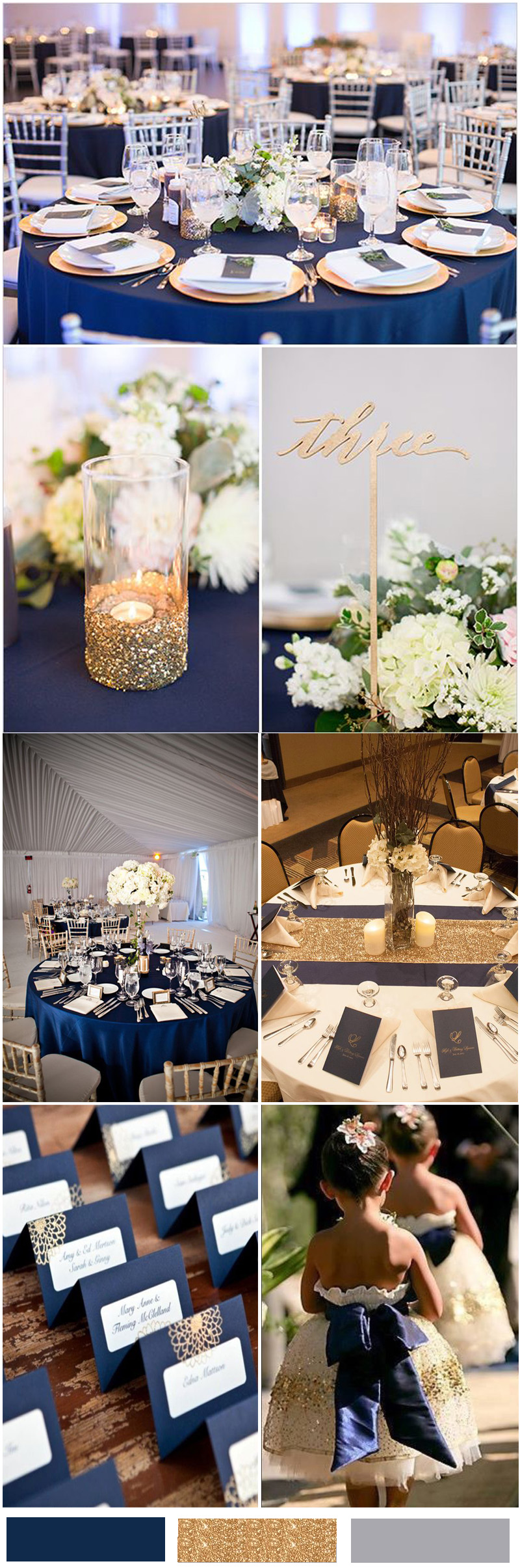 Navy Blue and Gold Wedding Ideas