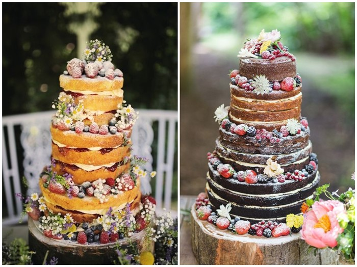 21 Rustic Berry Wedding Cake Inspirations For Your Big Day
