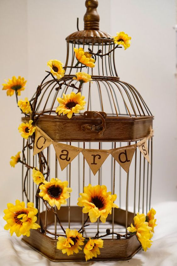 Rustic Fall Wedding Card Holder Ideas