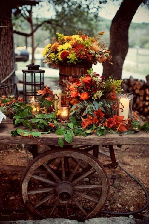 Rustic Outdoor Fall Decor ideas
