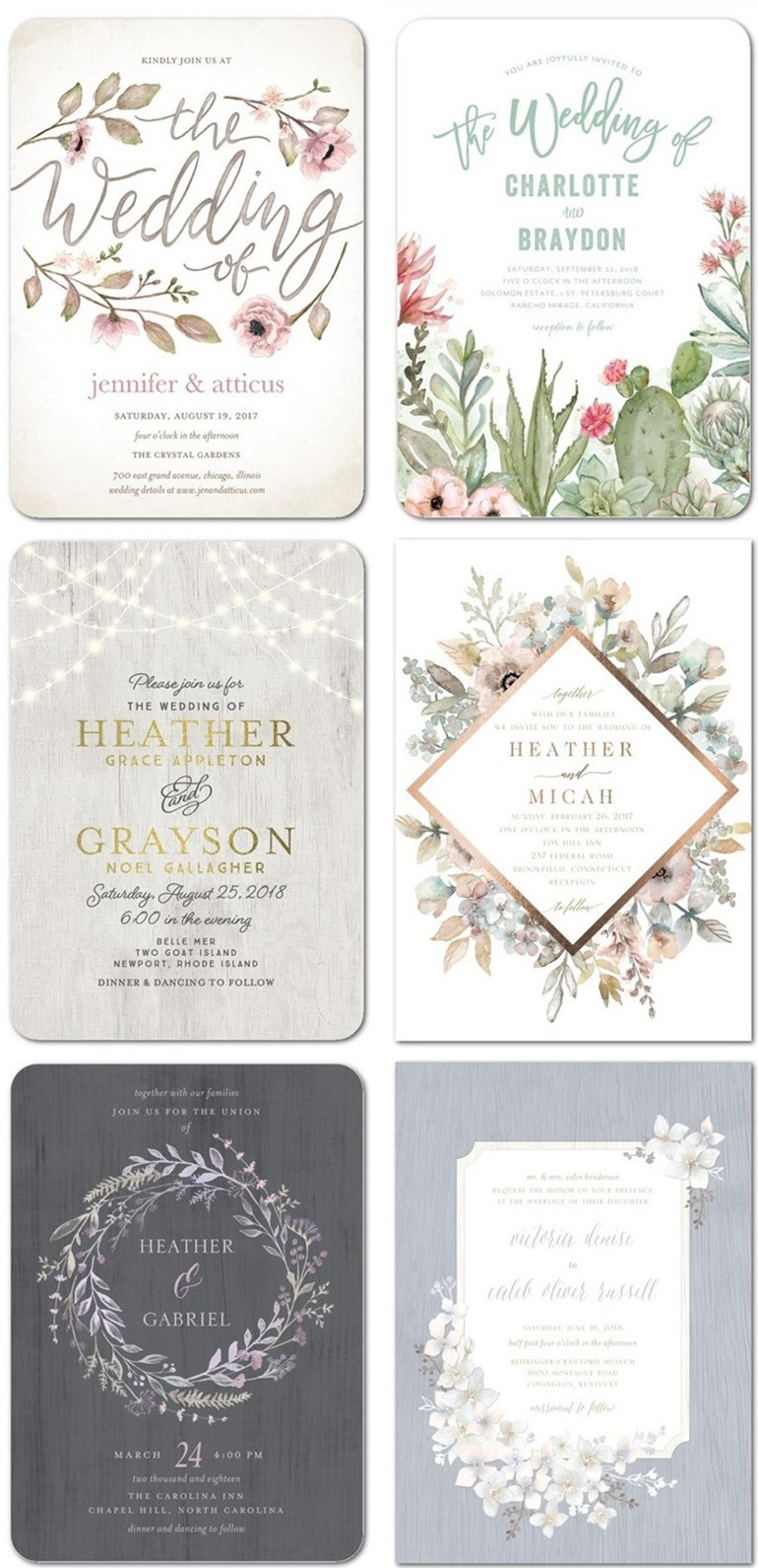 Rustic wedding invitations for your big day
