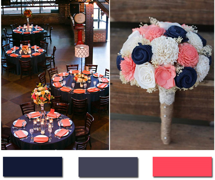 Color Ideas For Weddings: Nobleness And Eternity: Stunning Navy Blue Wedding Color Ideas
