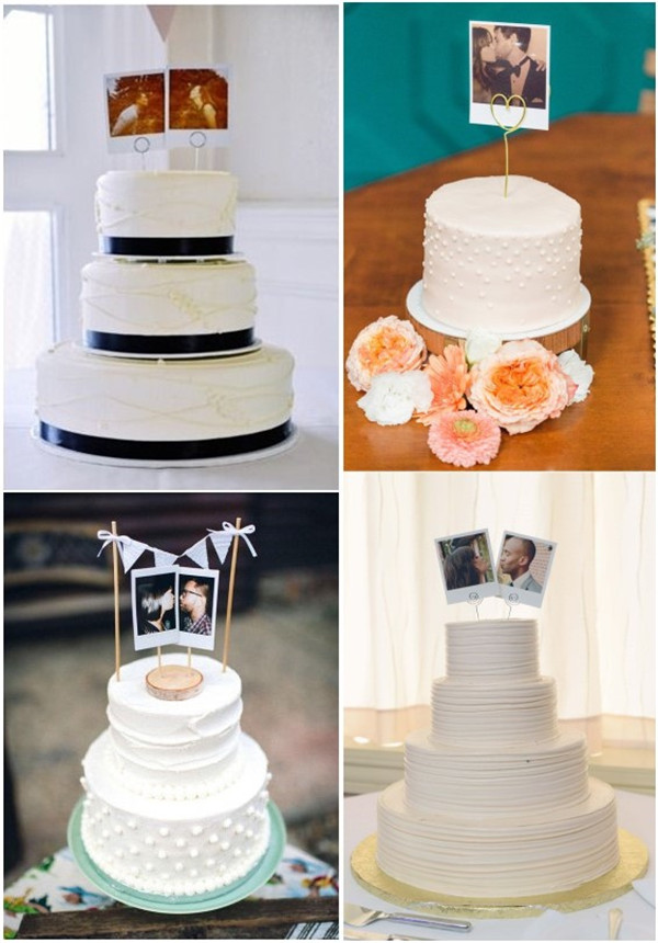 Creative Polaroid Wedding Cake Topper Ideas