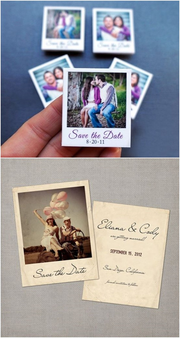 Polaroid Save The Date Magnets Ideas