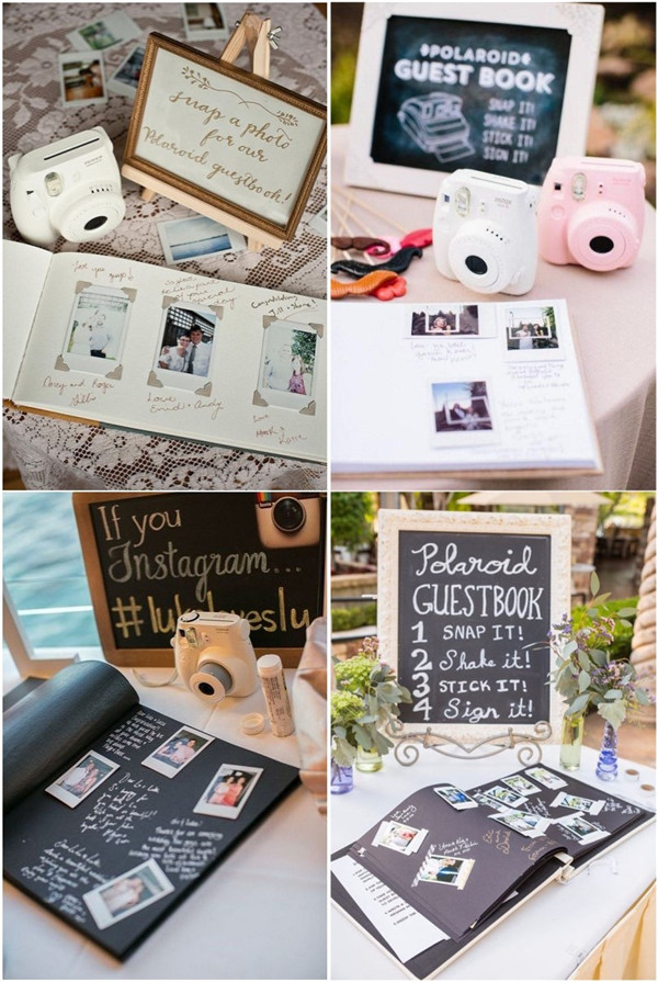 Polaroid Wedding Guest Book.7 Creative Polaroid Wedding Ideas Too Cool To Pass Up