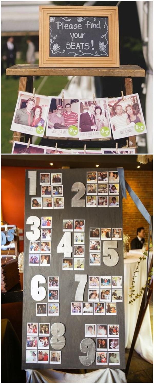 Polaroid Wedding Seating Card Ideas