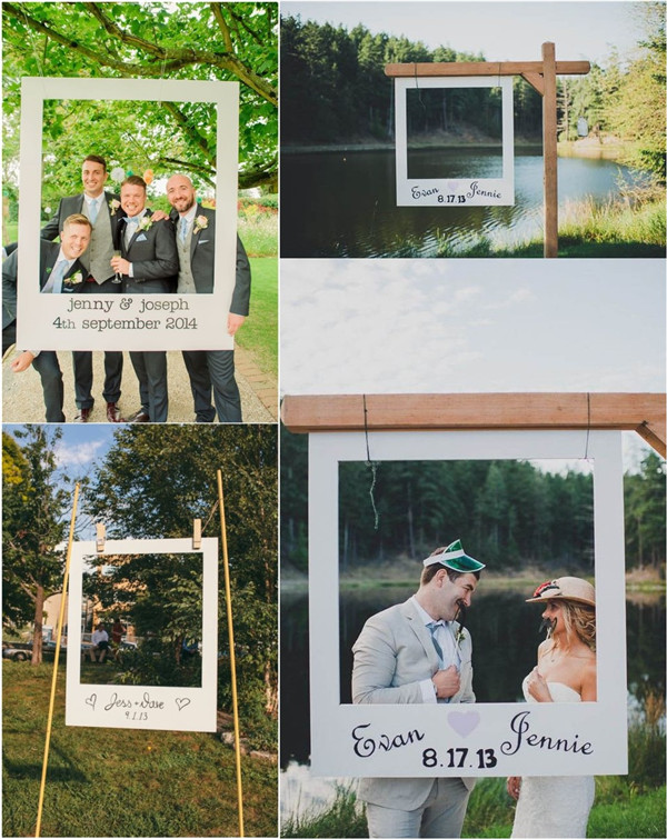 Polaroid-inspired Wedding Photo Booth Backdrop Ideas Your Guests Want to Embrace