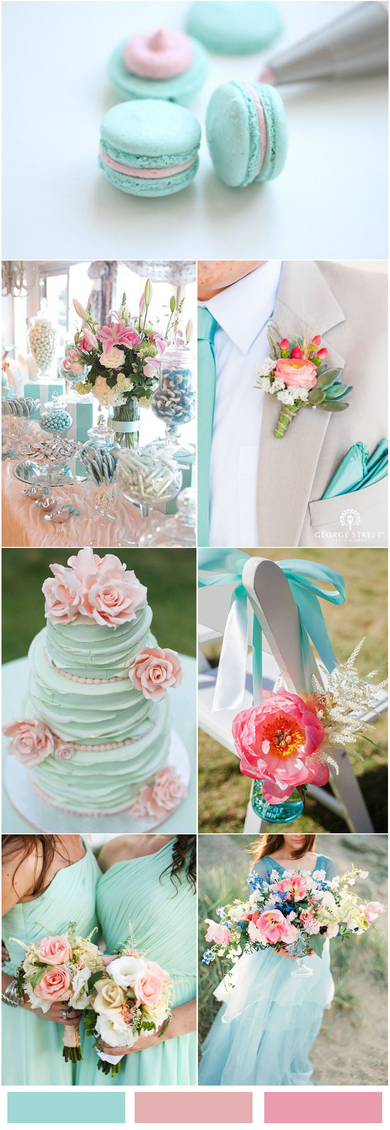 Tiffany Blue and Blush Pink Wedding Color Ideas