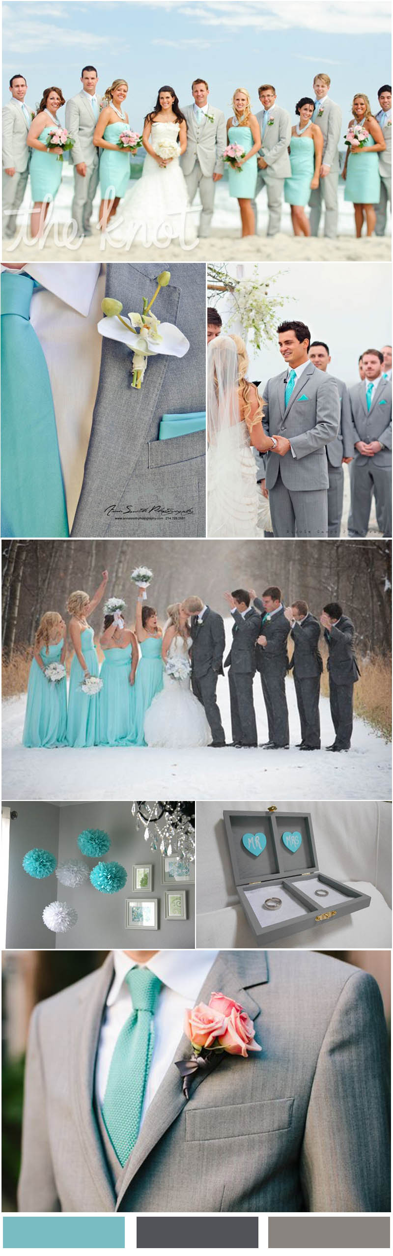 Tiffany Blue and Gray Wedding Color Ideas
