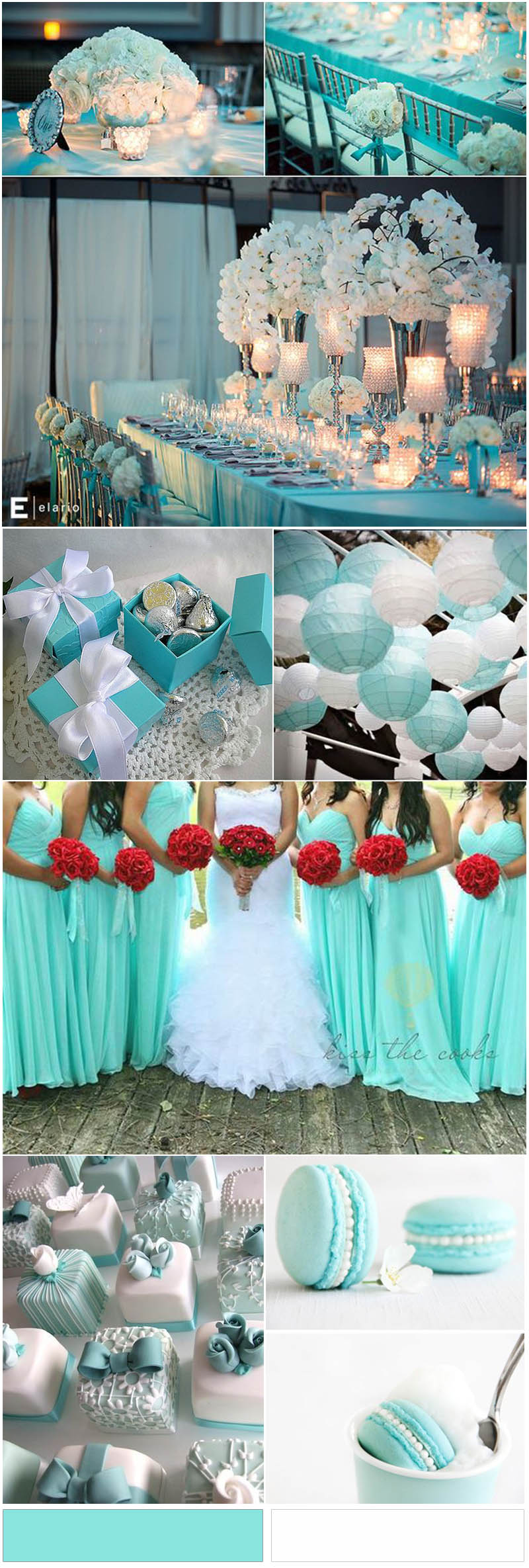 Tiffany Blue and White Wedding Color Ideas you will like