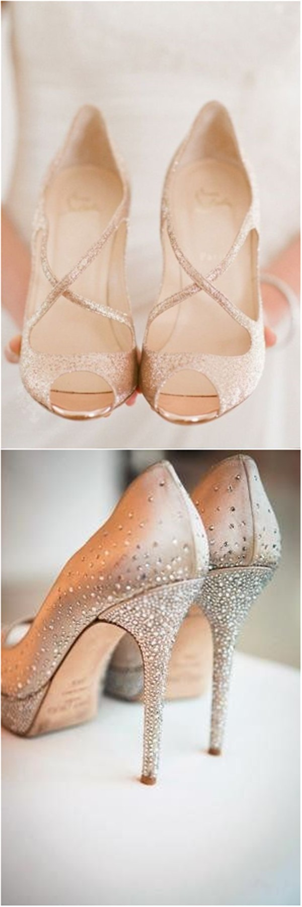 Champagne Colored Wedding Shoes for Your Big Day