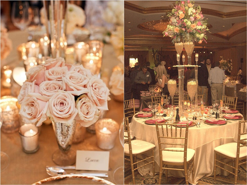Chic and elegant champagne wedding color ideas worth trying for Decoration images