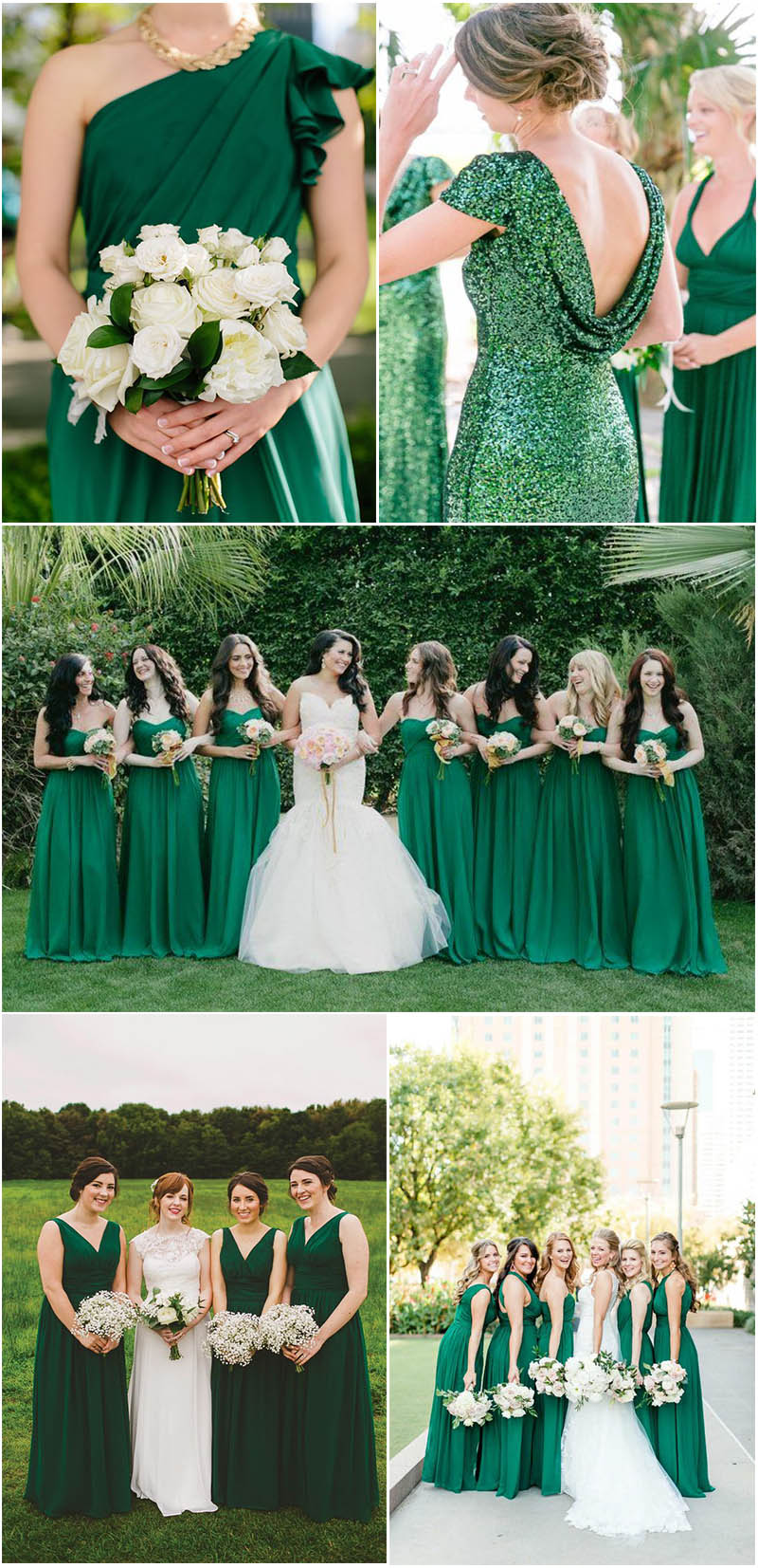 hottoest emerald green bridesmaid dresses ideas