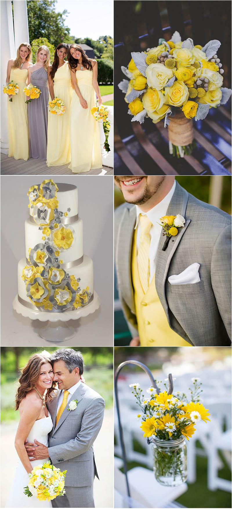 bright grey and yellow ideas for summer wedding
