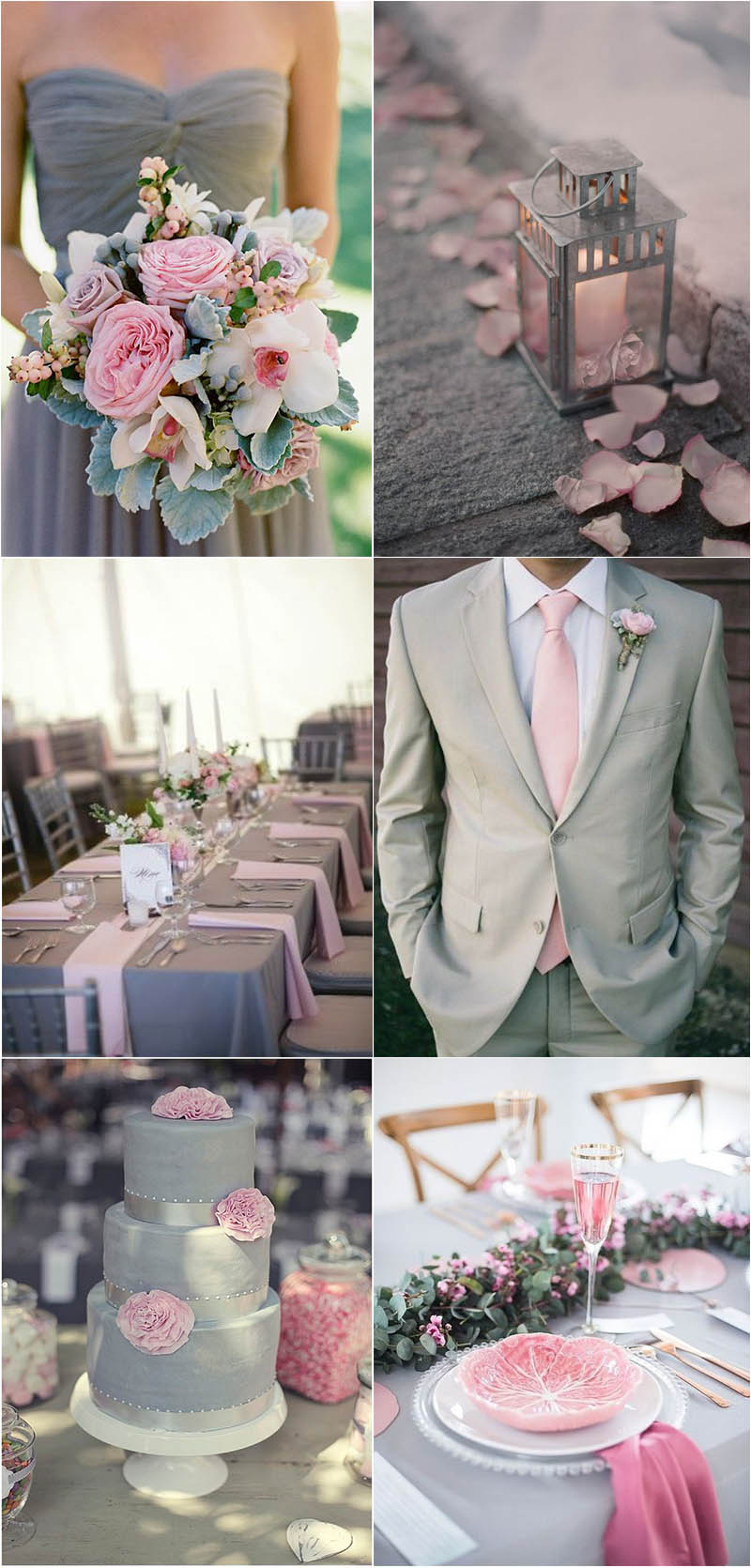 charming grey and pink wedding ideas