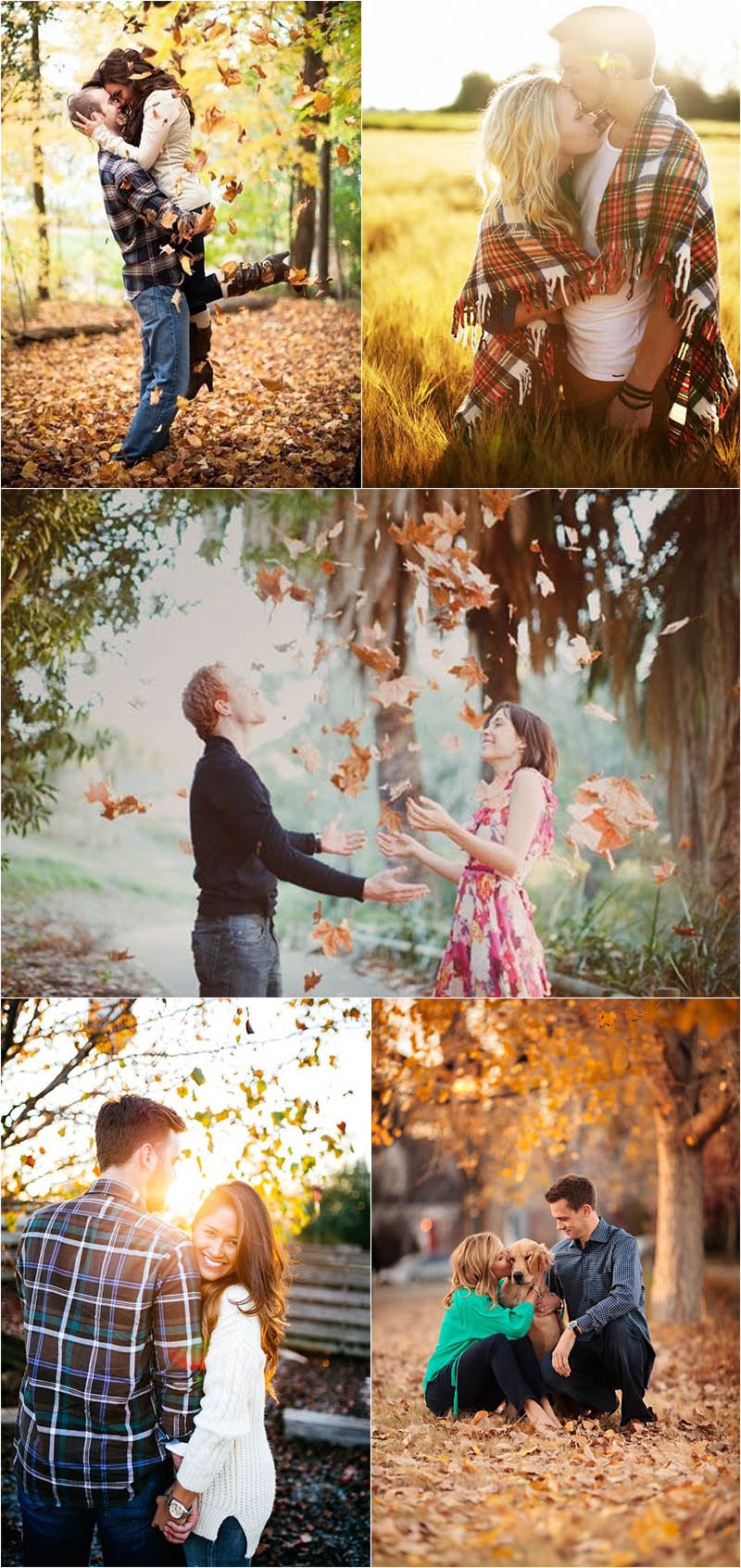 amazing fall engagement photo ideas
