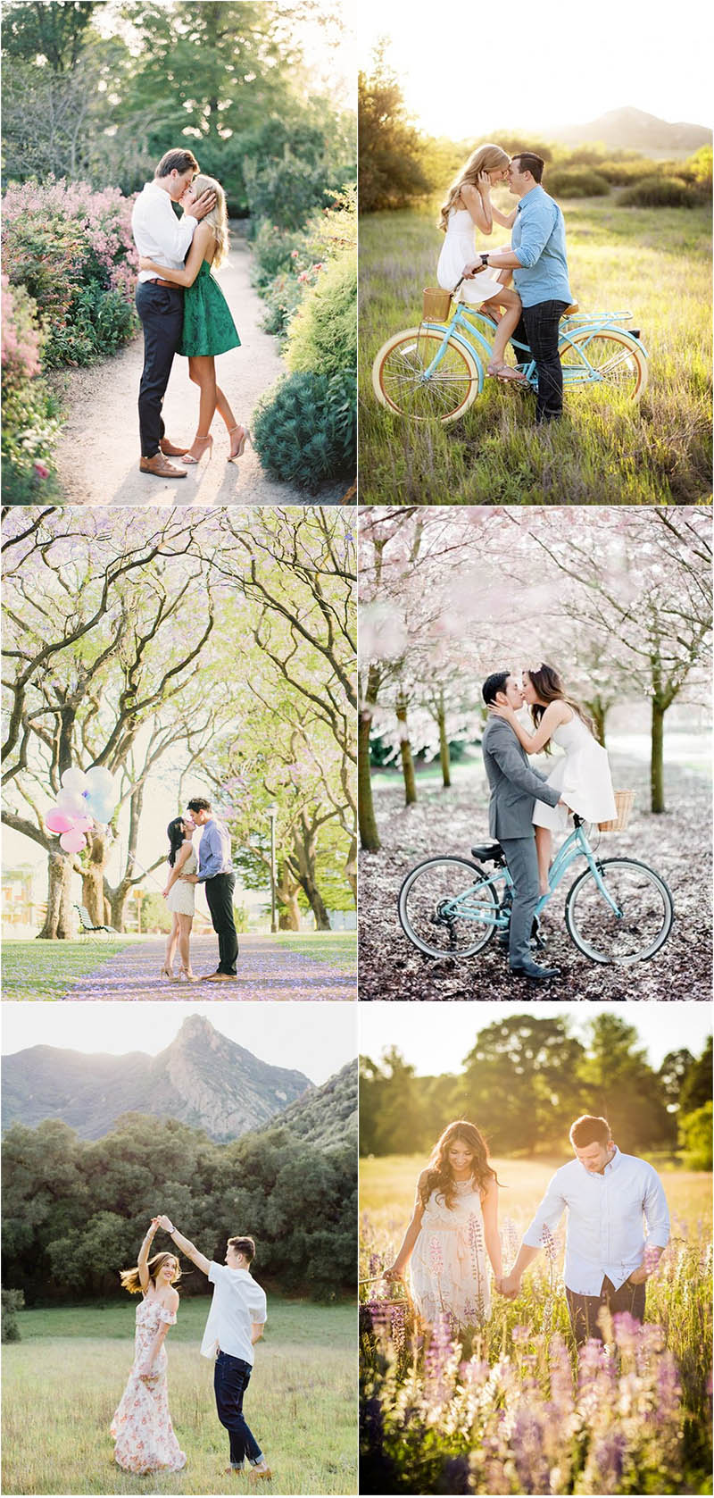 awesome spring engagement photo ideas