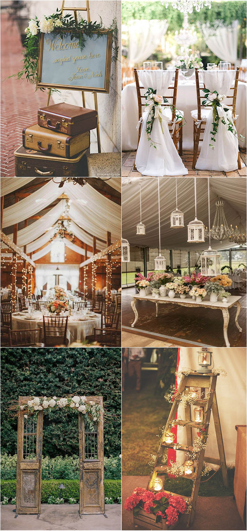 shabby chic vintage wedding decoration ideas