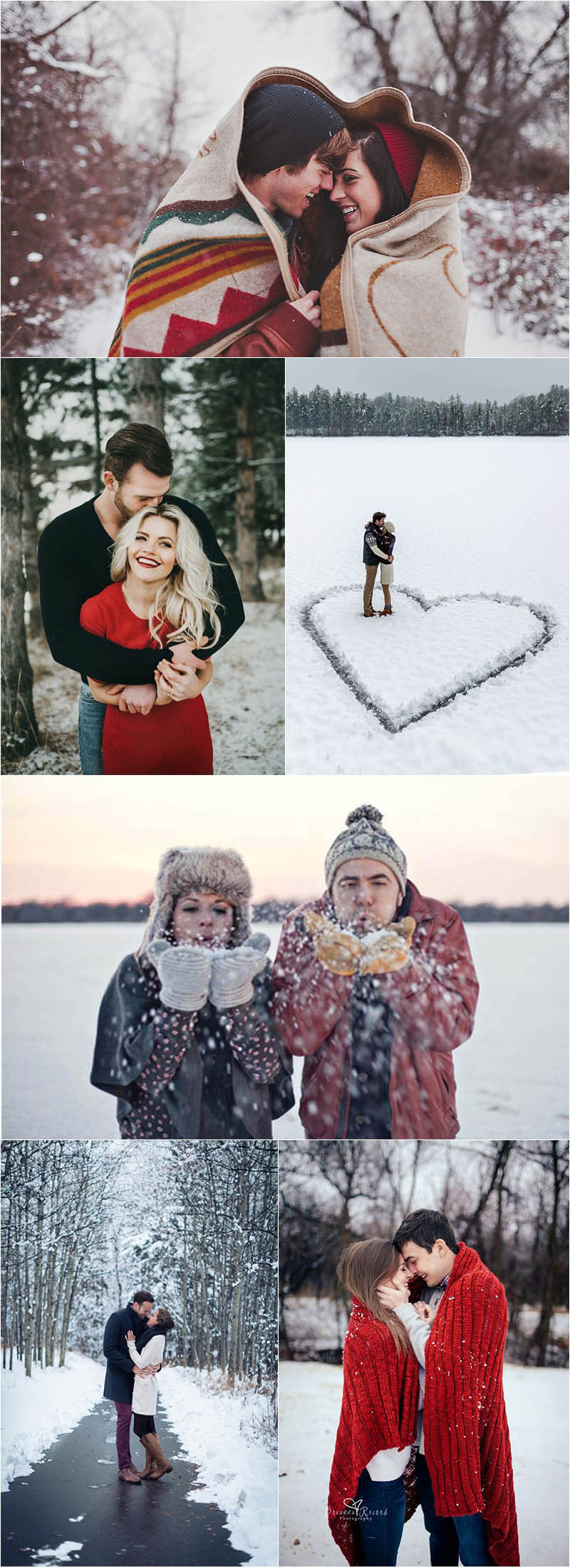 stylish winter engagement photo ideas