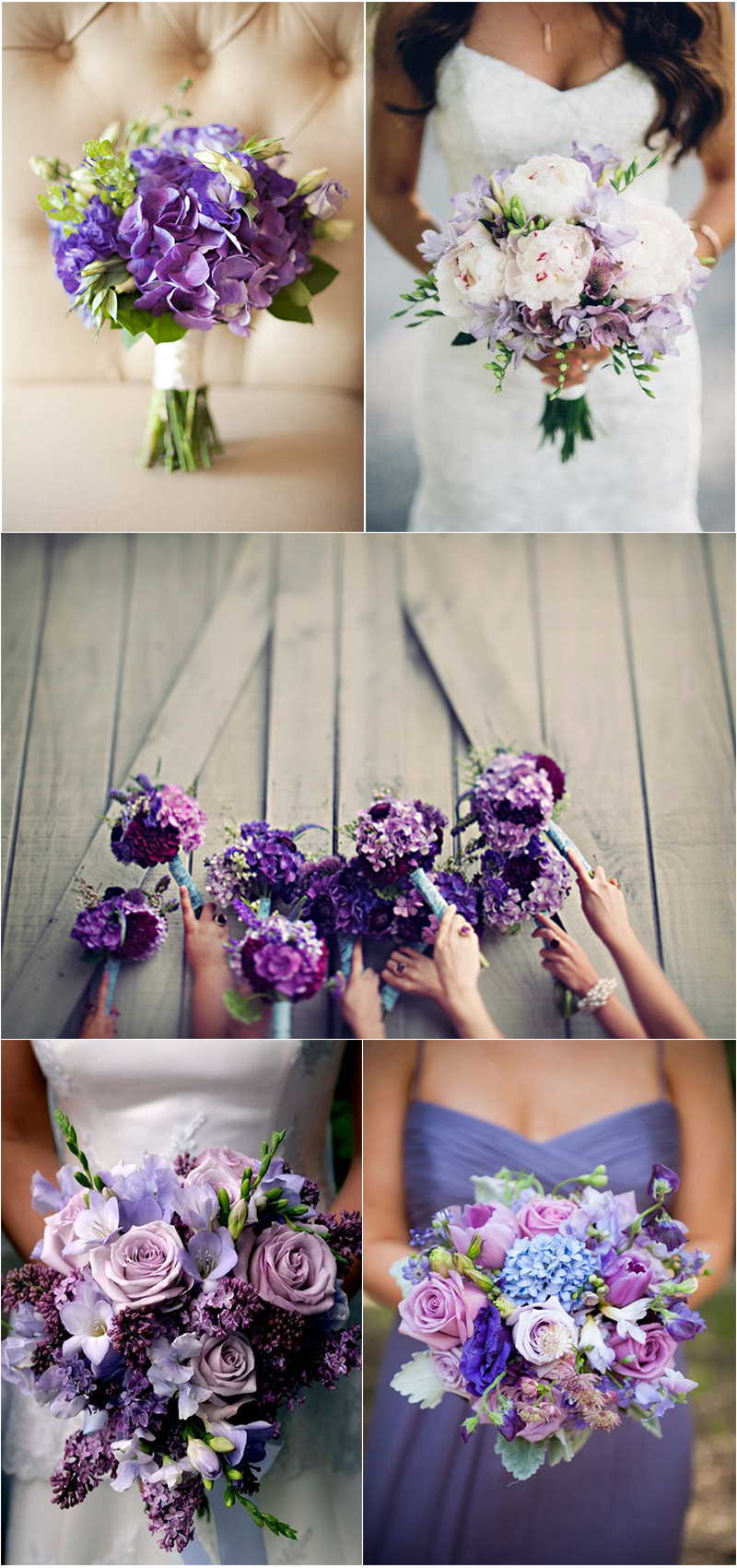 charming and elegant vioet wedding bouquet ideas