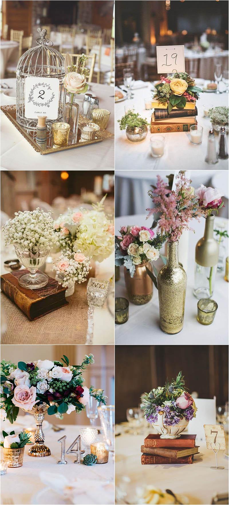 elegant and vintage wedding centerpieces