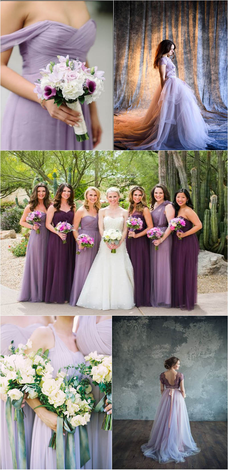 eye-popping violet wedding dresses