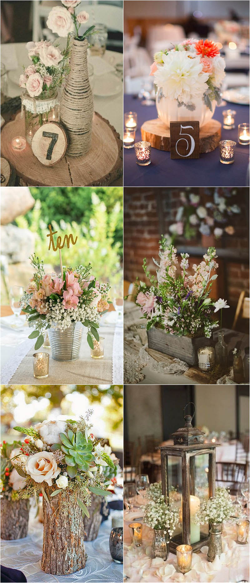 gorgeous rustic wedding centerpieces to shine