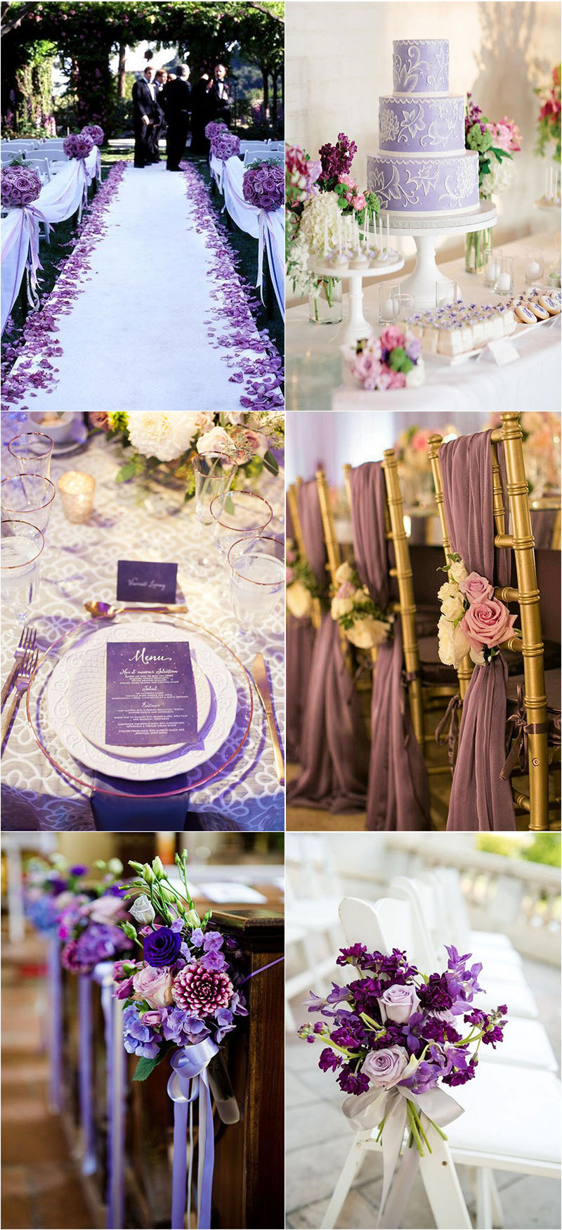 romantic violet wedding decorations