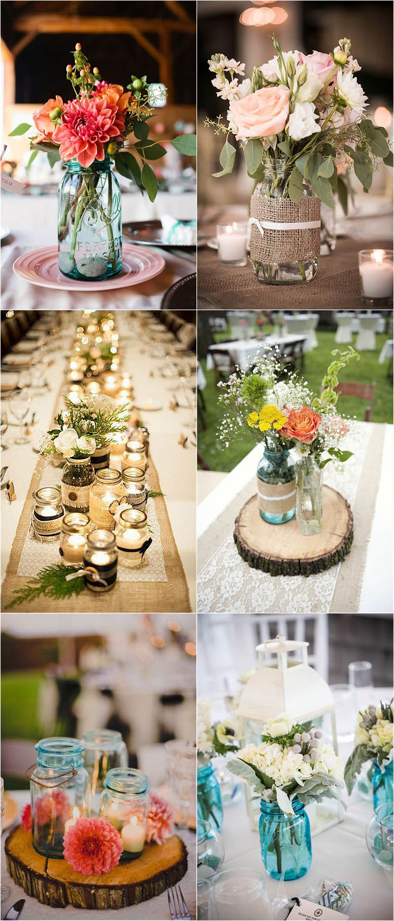 Mason Jar Wedding Centerpieces.Top 5 Stylish Wedding Centerpieces Ideas For 2018