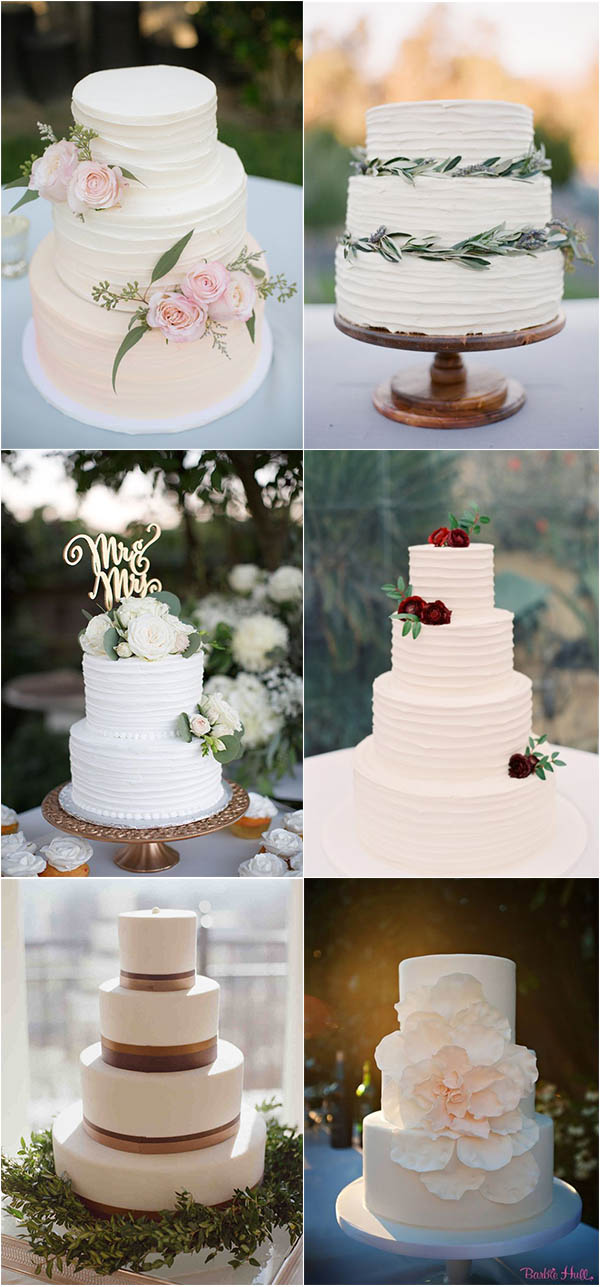 simple yet stylish wedding cake ideas