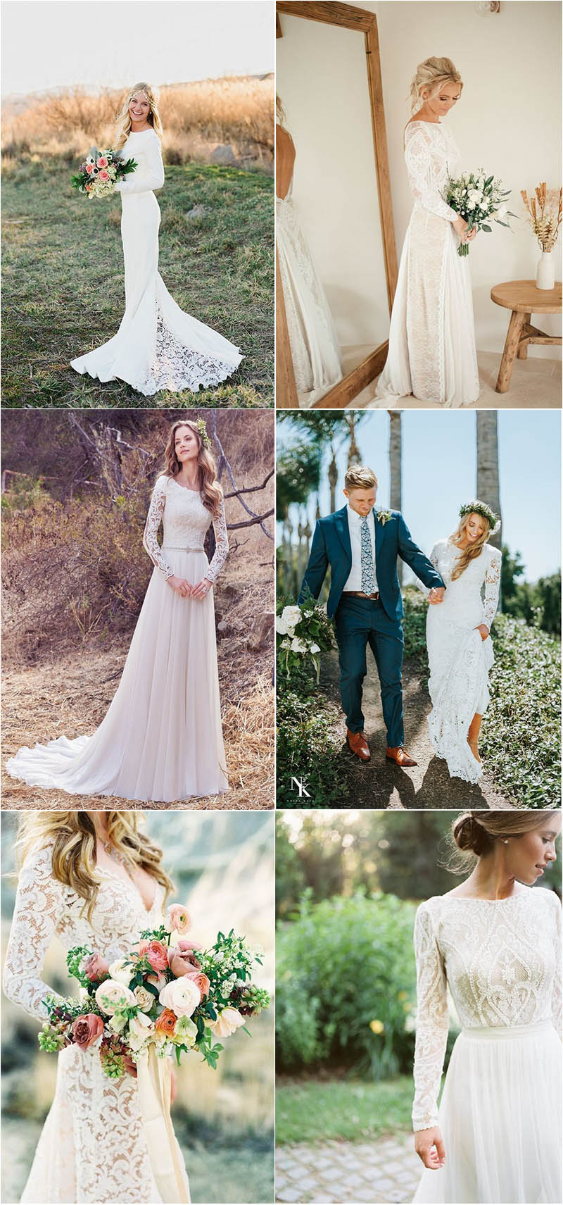 stylish wedding dresses with long sleeves