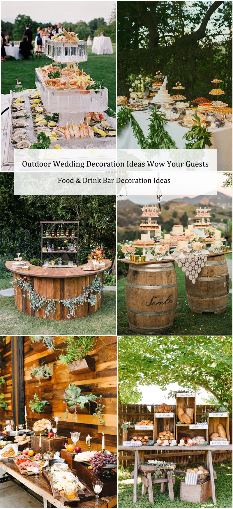 Outdoor Wedding Decoration Ideas-Food & Drink Bar Decoration Ideas