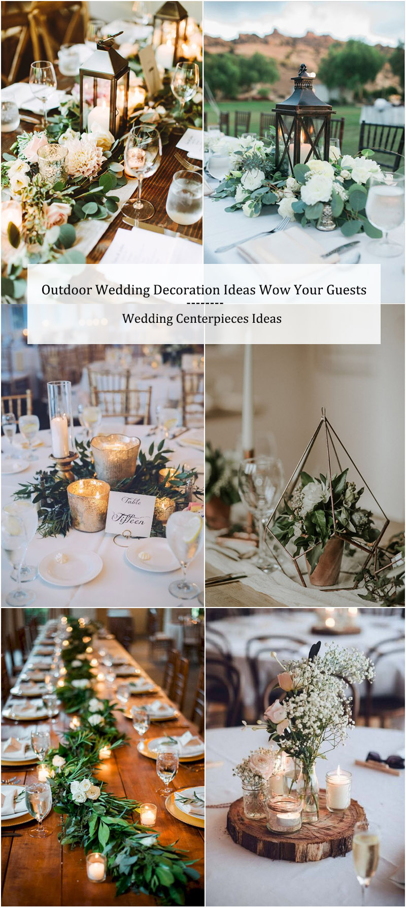 Outdoor Wedding Decoration Ideas-Wedding Centerpieces Ideas