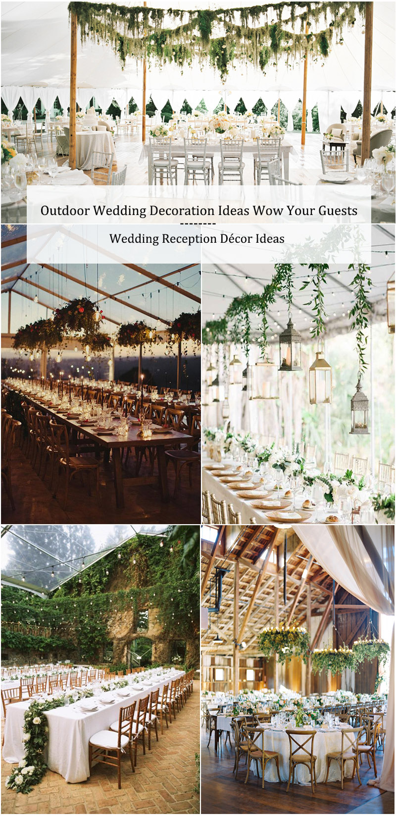 Outdoor Wedding Decoration Ideas-Wedding Reception Ideas