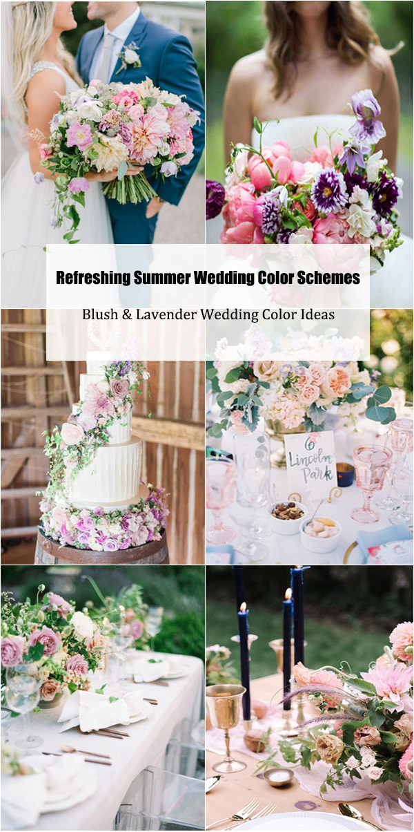 Summer Wedding Color Schemes-Blush & Lavender Wedding Color Ideas