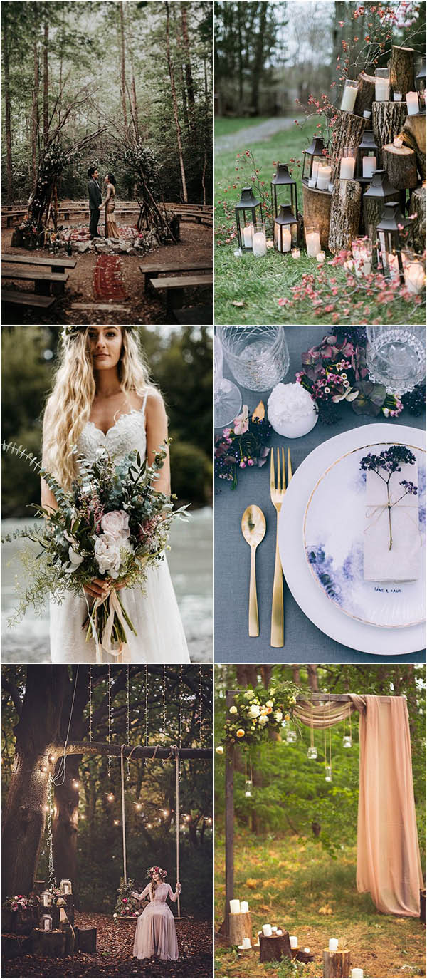 boho-inspred summer woodland wedding ideas
