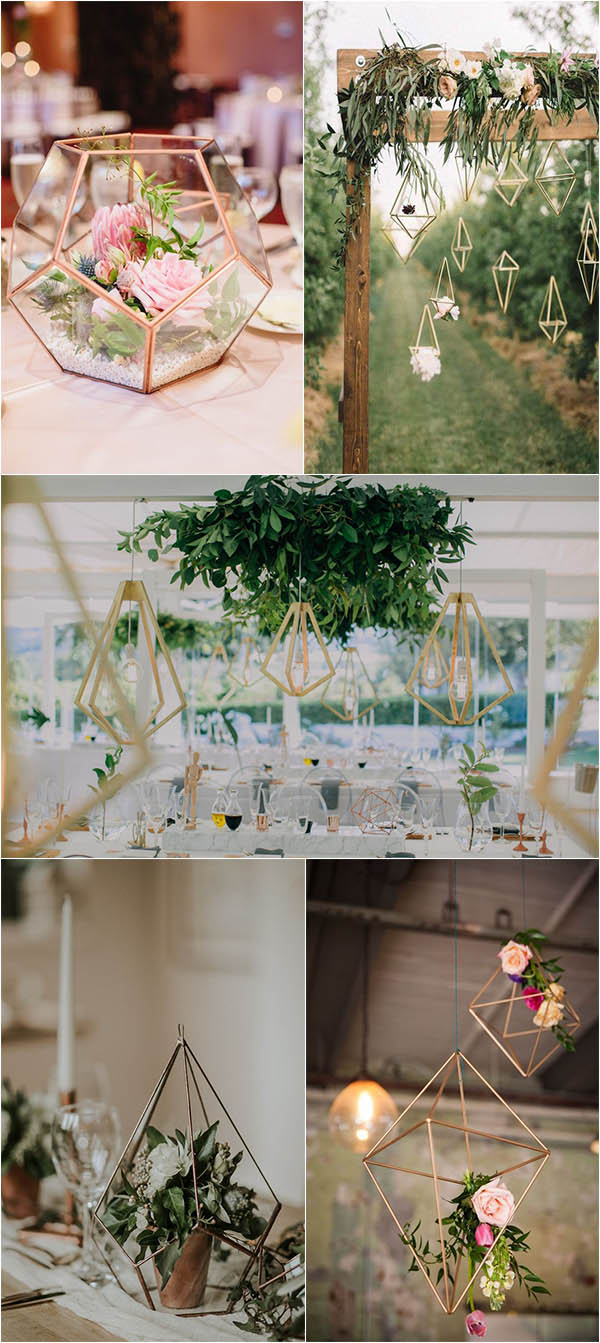 modern and chic geometric wedding decorations