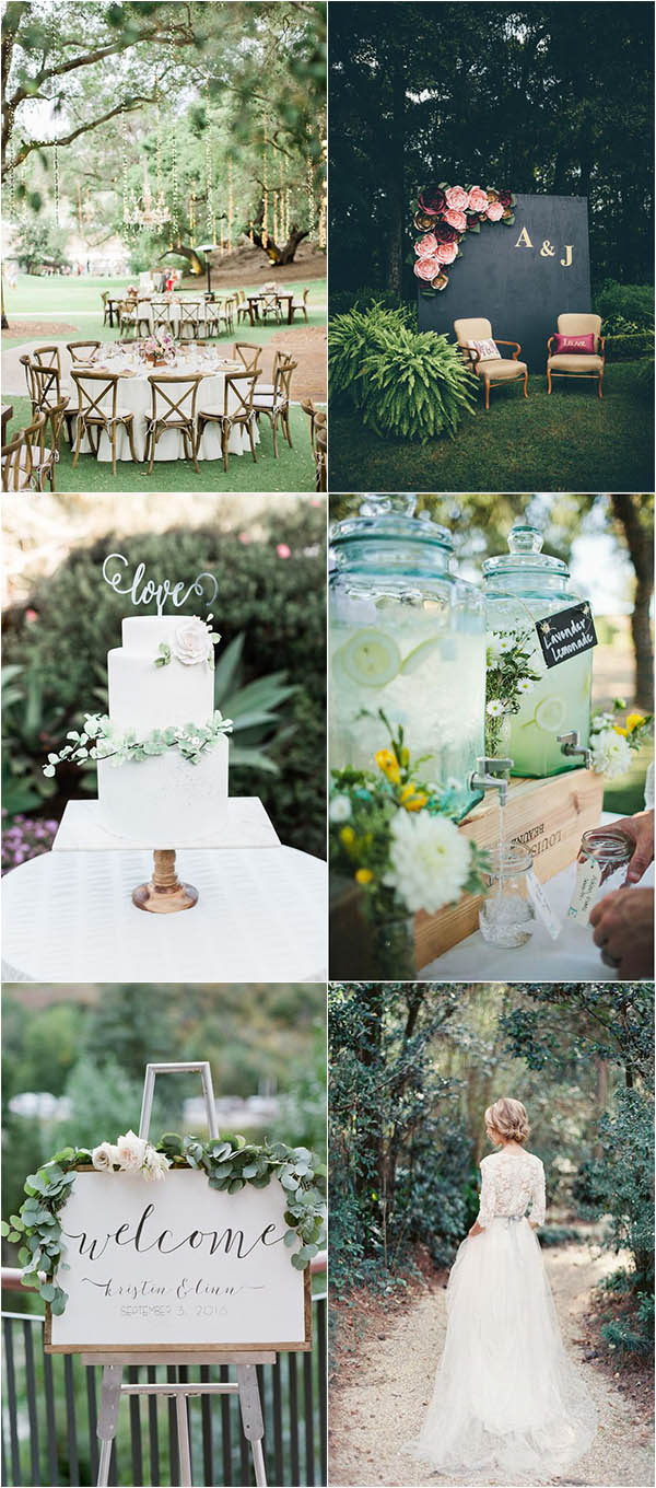 refreshing and charming summer garden wedding ideas