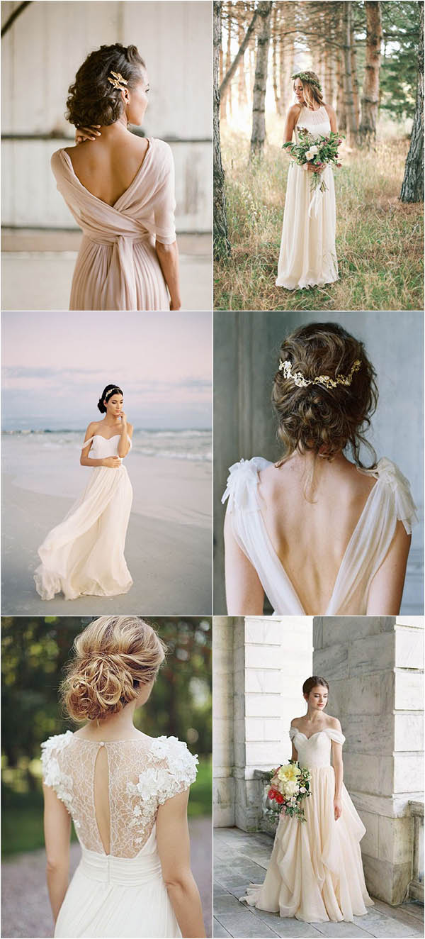 romantic chiffon wedding dresses to shine