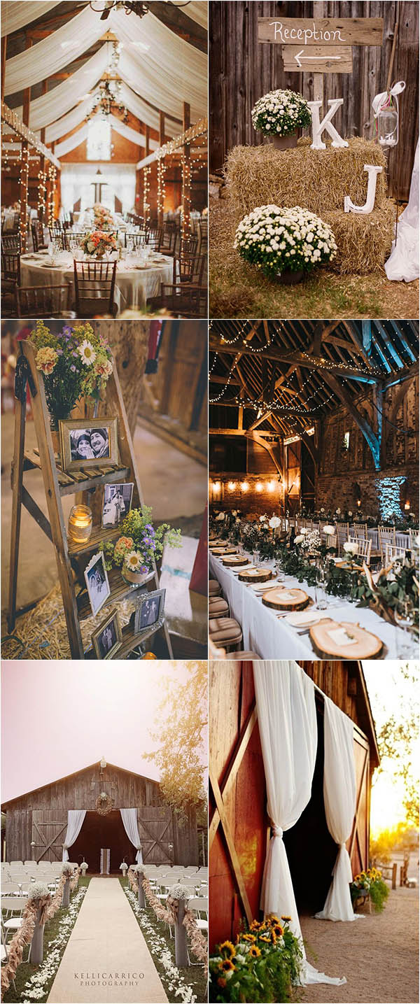 rustic and chic summer barn wedding