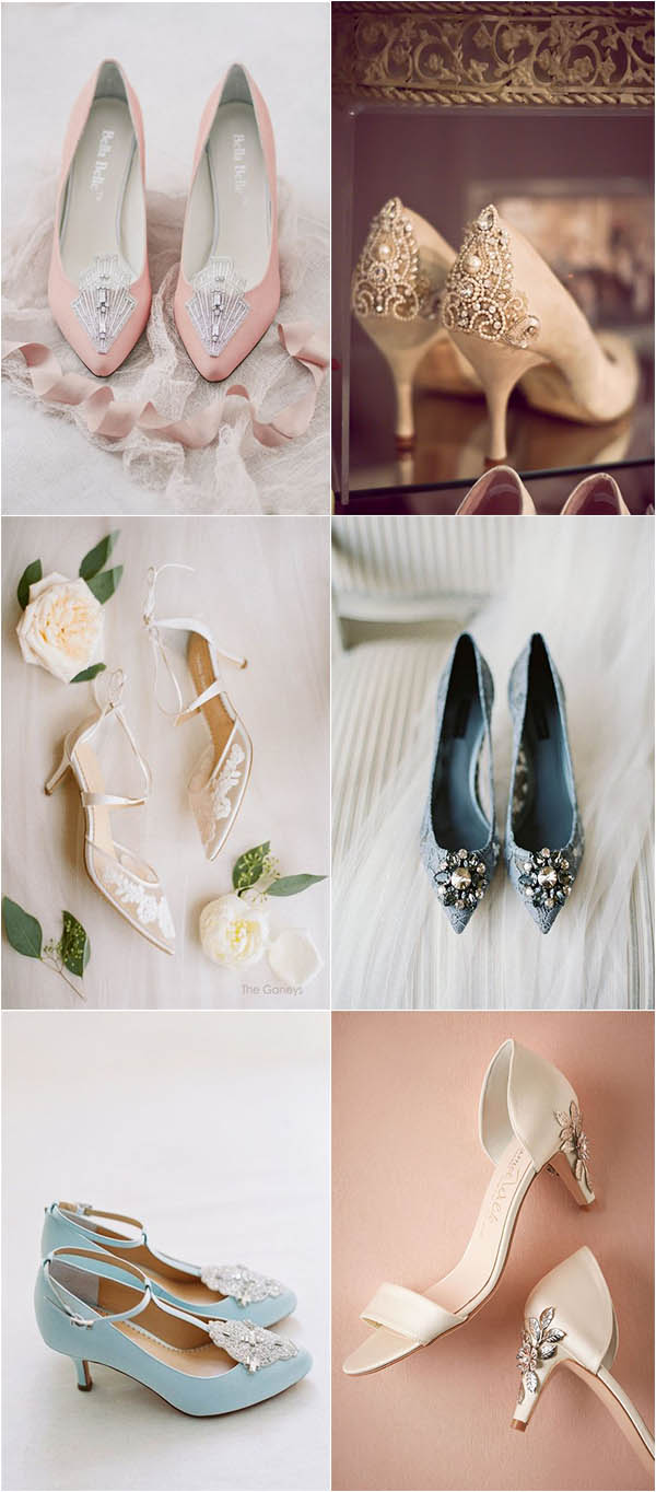 sexy and comfortable kitten heel wedding shoes
