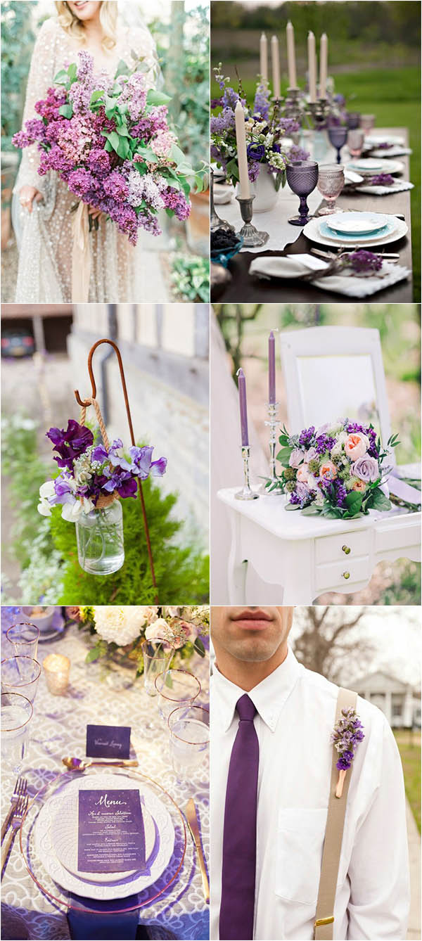 stylish ultra violet wedding ideas