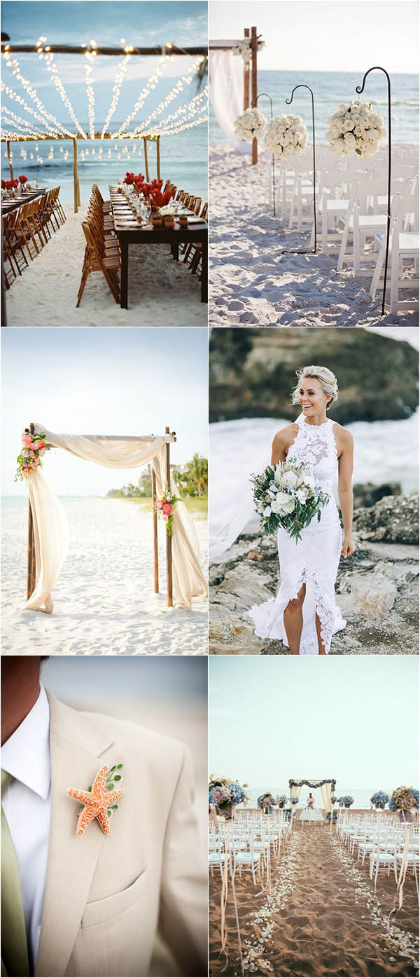 sweet and eye-catching summer beach wedding ideas